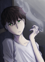 Smoke at the window by ArtLifeON