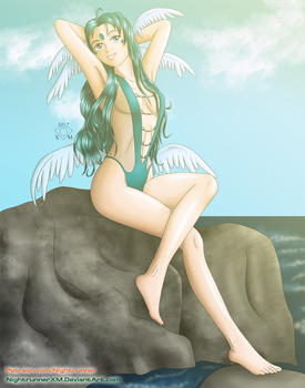 AMG Ansuz Swimsuit Pinup by NightrunnerXM