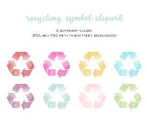 Clipart - recycling symbol by excentric