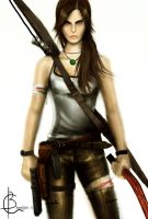 LARA CROFT A SURVIVOR IS BORN by amirulhafiz