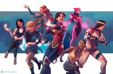 All-female Justice League by Pryce14