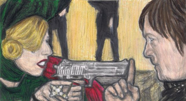 Judas blocking the lipstickgun by gagambo