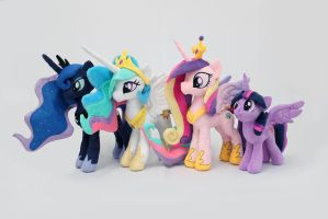 MLP Princesses Plushies by nekokevin