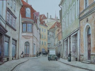 Street Pikk in Tallinn by voitv