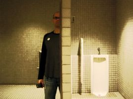 Self-portrait With Urinal by ezwerk