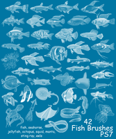 PS7 - 42 Fish Brushes by mediaklepto