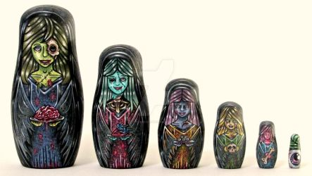 Living Dead Matryoshkas by Cyanidenight