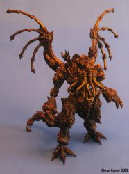 Steampunk Clockwork Cthulhu, Painted Buildup by shaungent