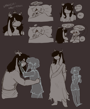 Hades fell!Asriel and his Kitten by Channydraws