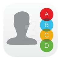 Contacts Icon Style Three by hamzasaleem