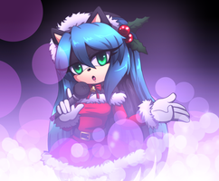 merry christmas MANA THE HEDGEHOG by Gabriel-black-cat