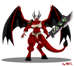 Commission - Demon Riven by MATL