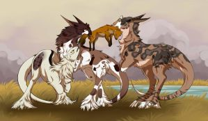 [Leilana, Tera + Elgine] Hunting 2 by Wolv31000