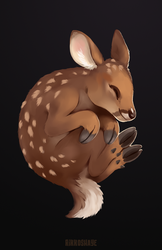 Sleepy Fawn by Rikkoshaye