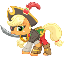 MLP Movie Spoiler - The Dread Pirate Applejack! by cheezedoodle96
