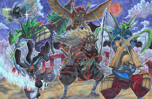 Commission: Samurai Pokemon Team