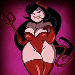 Halloween Commission: Devilishly Viola by grimphantom