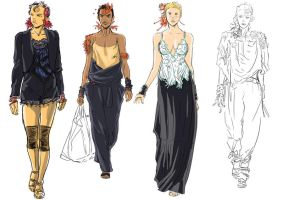 more fashion roughts by psychee-ange
