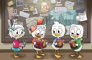 Ducktales and Gravity Falls Crossover :D by TOMEart