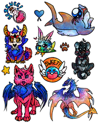 Stickers, Buttons, and More, Oh My! by SilverSugar