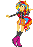 Rainbowfied Sunset Shimmer by illumnious