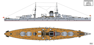 Austro-Hungarian Project V Battleship Design by Tzoli