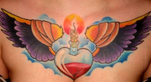 chest tattoo by fetish