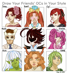 DRAW YOUR FRIENDS' OCs IN YOUR STYLE by G-Tako
