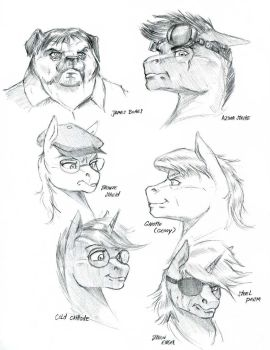 Player character busts by Baron-Engel