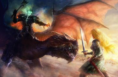 Eowyn and the nazgul 2 by moonxels