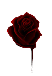 Bloody rose PNG by Zontah