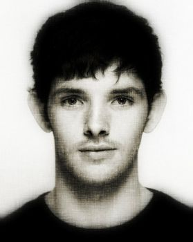 Colin Morgan black/white by XeniaJenny
