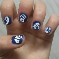 Doctor Who Nails by karatechick13