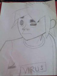 2-D from Gorillaz by huskiezlover