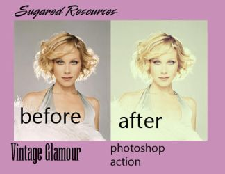 VintageGlam . PHOTOSHOP ACTION by sugaredheart