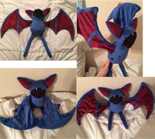 Zubat Plushie! by GuardianEarthPlush