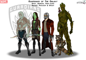 Guardians of The Galaxy by Kyle-A-McDonald