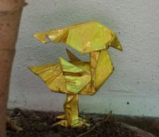 Golden Chocobo by Figuer