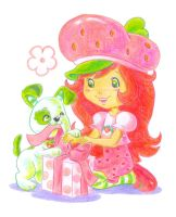 Strawberry shortcake and puppy by jkBunny