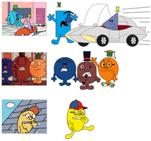 Mr. Men scene recreations by Percyfan94
