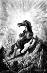 The Forgotten Horse God by AndreIllustrates