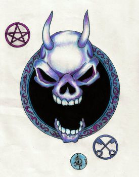 Demon Skull design by Moonknight