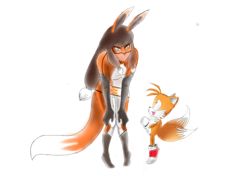 Tails meets volpina 2 by anime1999