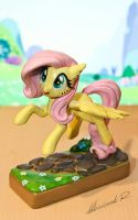 MLP:FiM - Fluttershy Sculpture by Arnne