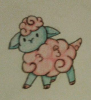 Cotton Candy Sheep by awesomness4268