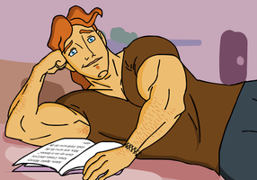 Hercules - Studying by Kim-Possible333