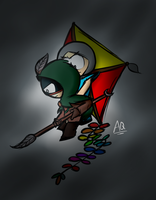 (AT)The Owl and The Human Kite by aq1218