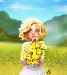 Yellow Flowers by Zow3y