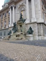 Monument at Buda Castle, different angle by setanta5