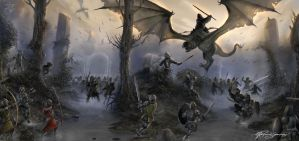 Battle of Osgiliath by Shockbolt